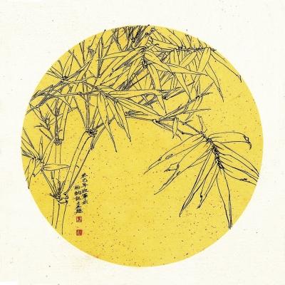 素描竹子铅笔画-妙造自然伊谁与裁  马迎军