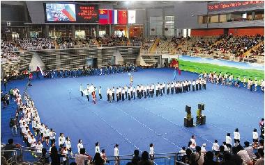 中俄蒙青少年运动会开幕