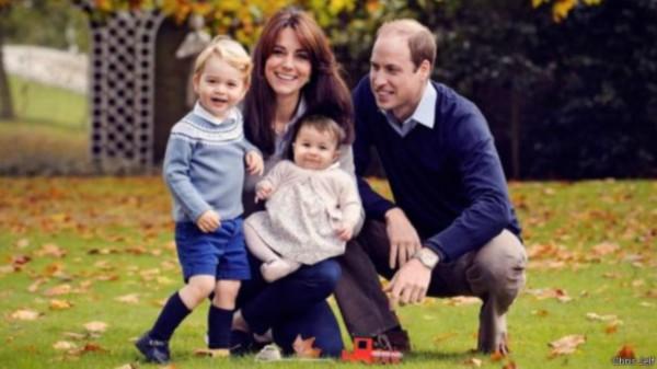 威廉王子最新全家福 乔治将上平民幼儿园