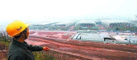 正在建设中的悦来重庆国际博览中心