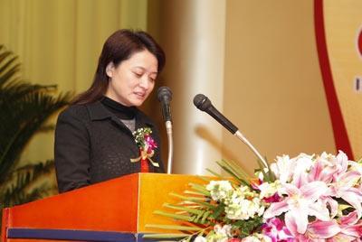 广电总局科技司副司长孙苏川女士在启动仪式上致辞