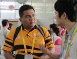 Arrivées des délégations internationales au village de l'Universiade