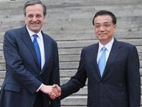 Primer ministro Li Keqiang se rene con homlogo griego