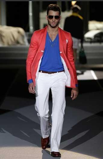 With a bedroom scene as the catwalk backdrop, D-Squared showed its spring/summer collection Tuesday in Milan.