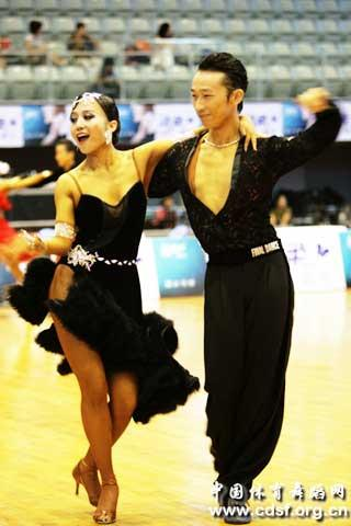 Contestants at the 8th national youth dancesport competition