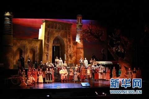 Set in Kashgar of Xinjiang, the opera follows the bitter-sweet story of two love birds.