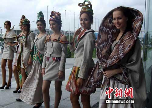 Uzbekistan celebrates its national pavilion day on Tuesday at the World Expo in Shanghai.