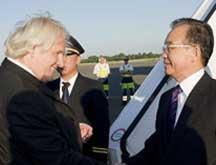 Wen Jiabao en visite à Berlin
