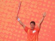 Эстафета огня Азиатских игр в городе Хуэйчжоу