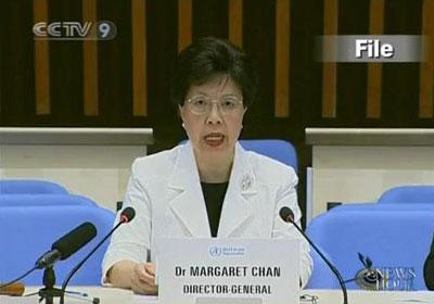 WHODirector-GeneralMargaretChandecidedtherewillbenochangeinthecurrentpandemicstatusrightnow.(CCTV.com)