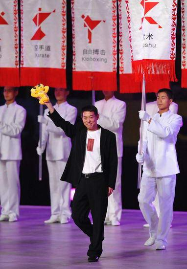 Jet Li promotes Tai Chi at Combat Games ambassador for the Chinese martial art of Wushu.