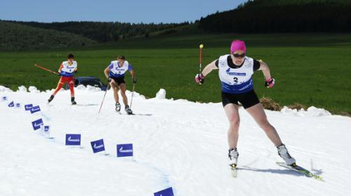 The fourth time summer skiiing sprint competition kicked off at Yakeshi City, Inner Mongolia.