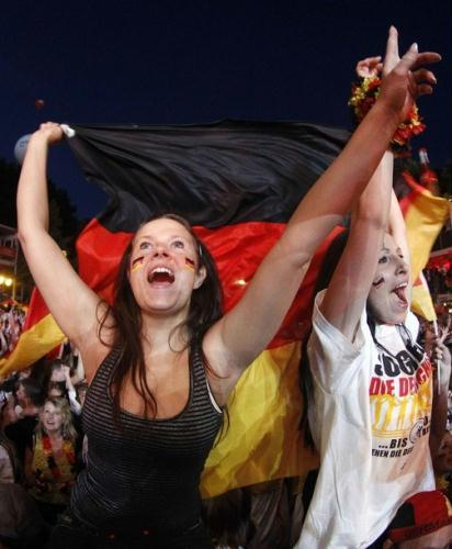 More than 200-thousand World Cup soccer fans in Berlin have celebrated Germany's win, after their nation's team scored a 1-0 victory over Ghana, and secured a place in the second round.