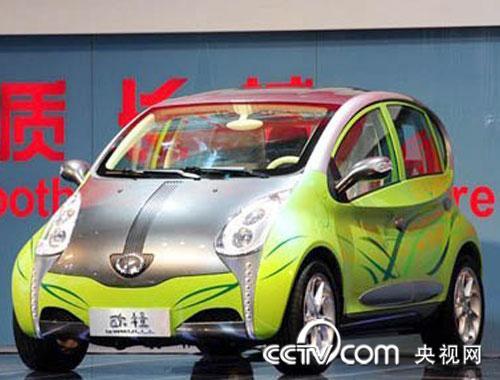 长城汽车展出了一款纯电动车型欧拉,而此款车型在展会中也赚高清图片