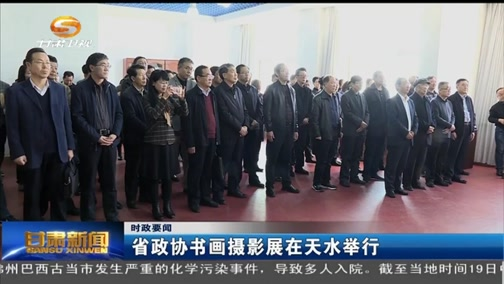 中国甘肃网省政协字画拍照展在天水举行