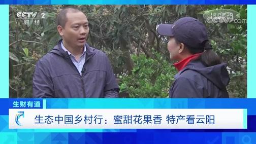 《生财有道》 20191213 生态中国乡村行:蜜甜花果香 特产看云阳