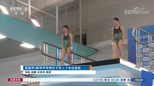 [游泳]张家齐/陈芋汐夺得女子双人十米台冠军