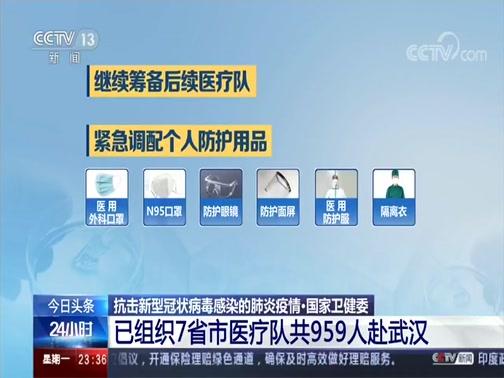 [24小时]抗击新型冠状病毒感染的肺炎疫情·国家卫健委 已组织7省市医疗队共959人赴武汉