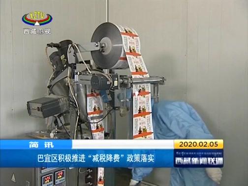"""[西藏新闻联播]巴宜区积极推进""""减税减费""""政策落实"""