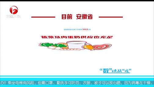 """[安徽新闻联播]""""数""""说战""""疫"""" 全� 懊状�子""""""""菜篮子""""有保障"""