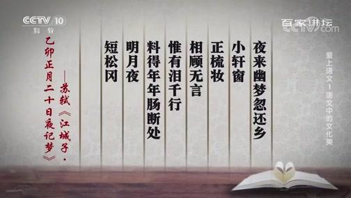 [百家讲坛]爱上语文1 语文中的文化美 古人以月亮抒情达意