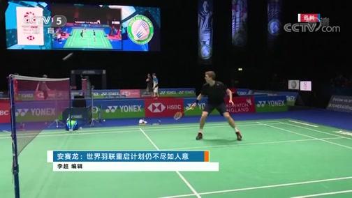 [羽毛球]安赛龙:世界羽联重启计划仍不尽如人意
