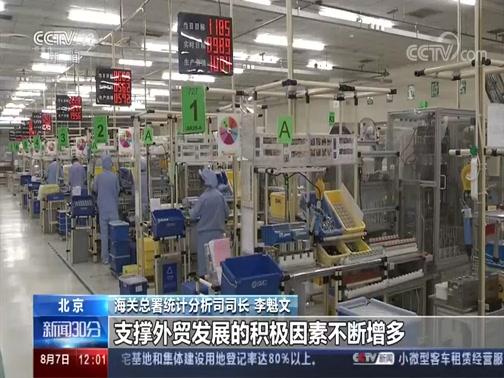 [新闻30分]海关总署 前7个月外贸进出口总值17.16万亿央视网2020年08月07日 12:12