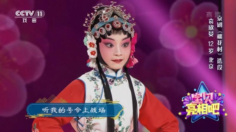 京剧桃花村选段 表演:袁欣晏 宝贝亮相吧