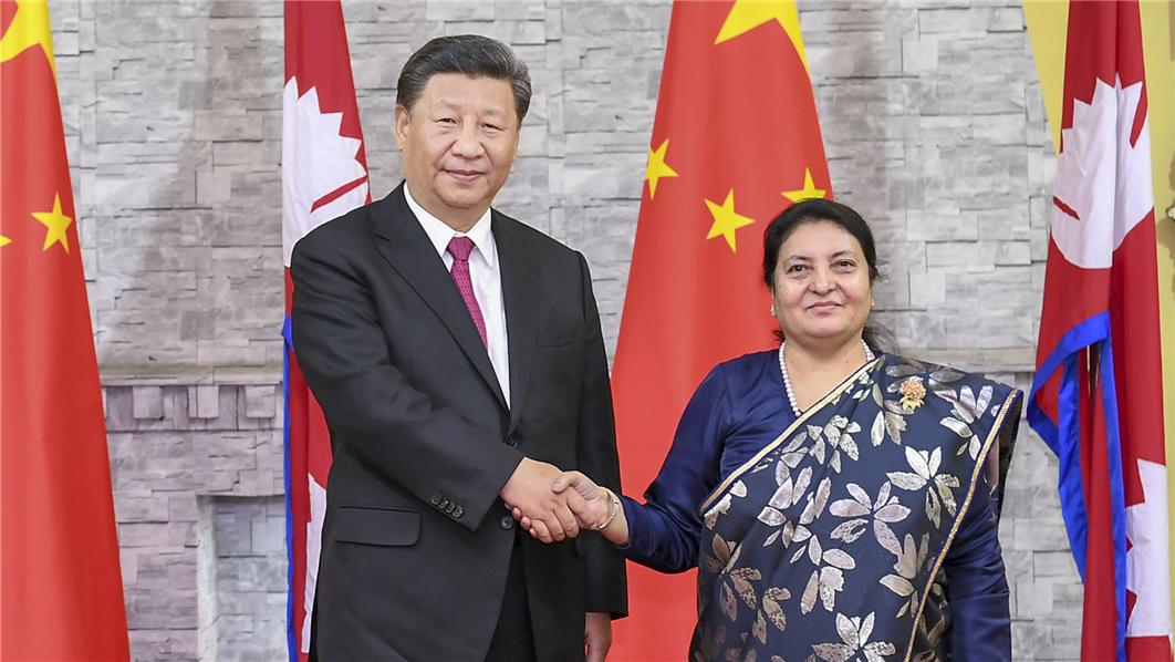习近平主席会见尼泊尔总统班达里