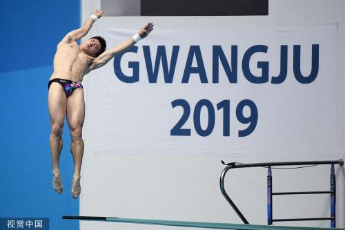 [高清组图]世锦赛跳水三米板中国选手前两名晋级