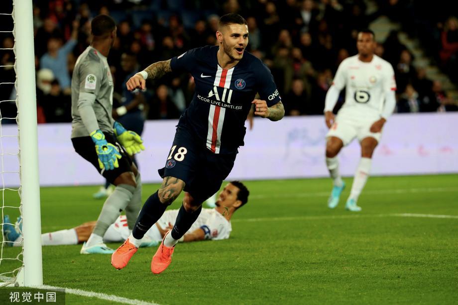[图]内马尔复出伊卡尔迪连场破门 巴黎2-0里尔