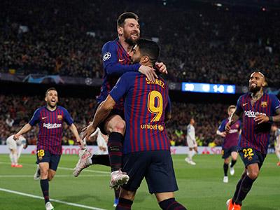 [欧冠]梅西双响 巴塞罗那主场大胜利物浦