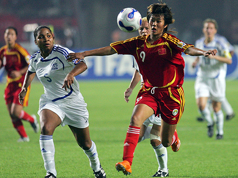 [足球之夜]2007年女足世界杯中国队精彩进球