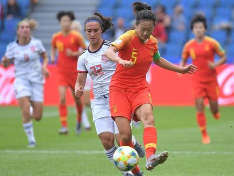 [女足世界杯]小组赛B组:中国VS西班牙 上半场