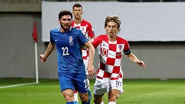 [图]莫德里奇点射 克罗地亚1-1客平阿塞拜疆