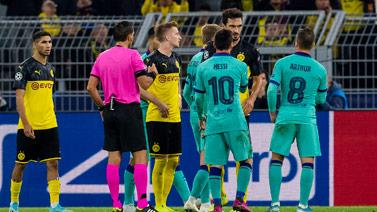 [欧冠]F组第1轮:多特蒙德0-0巴塞罗那 比赛集锦
