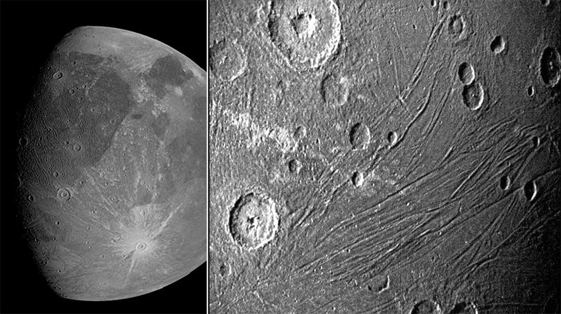 """木卫三史上最近距离观测照片来了!木星探测器""""朱诺""""号传回"""