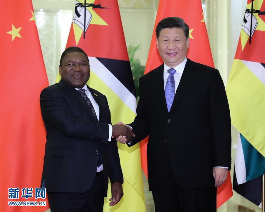 (时政)习近平会见莫桑比克总统纽西