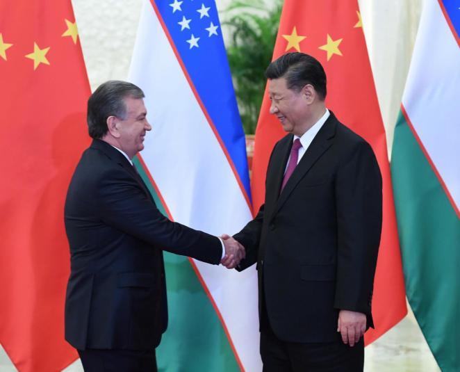 習近平會見烏茲別克斯坦總統米爾濟約耶夫