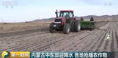 内蒙古中东部迎降水 各地抢播农作物