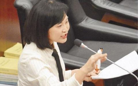 """高雄市议员陈丽娜市政总质询时说,""""灭韩小组""""真的有"""