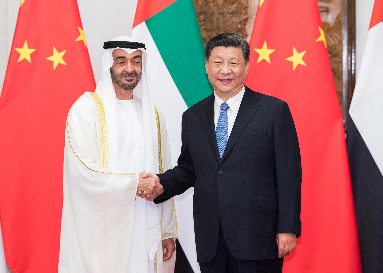 7月22日,国家主席习近平在北京钓鱼台国宾馆再次会见来华进行国事访问的阿联酋阿布扎比王储穆罕默德。