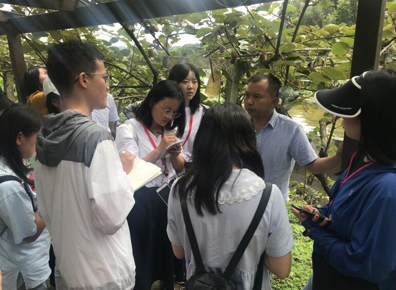 貴陽市修文縣獼猴桃農接受記者采訪