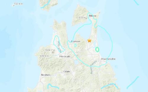 日本青森县发生5.4级地震震源深度88.4公里