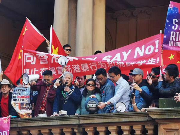 马来西亚华裔老人表示自己永远是中国心 图自现场网友
