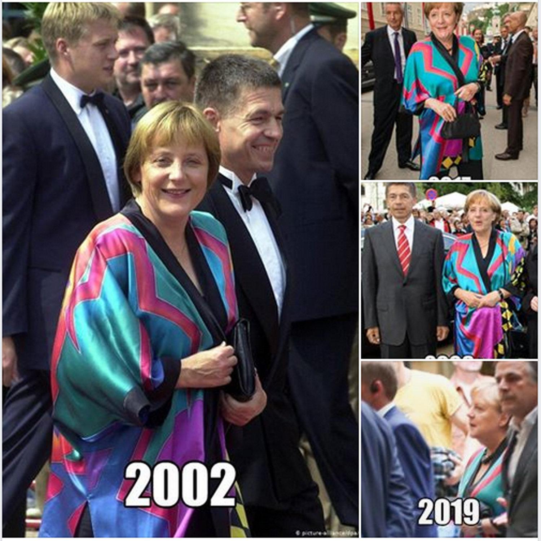 德国总理默克尔穿23年前衣服亮相,网友大赞其简朴