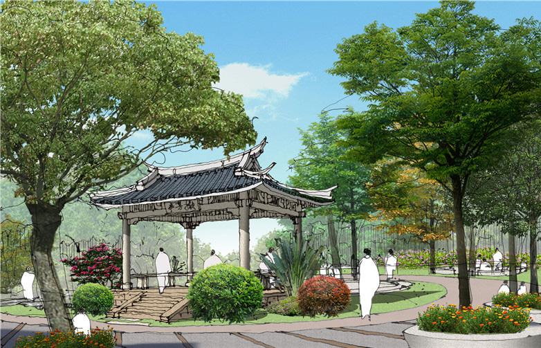 南湖公园西园效果图
