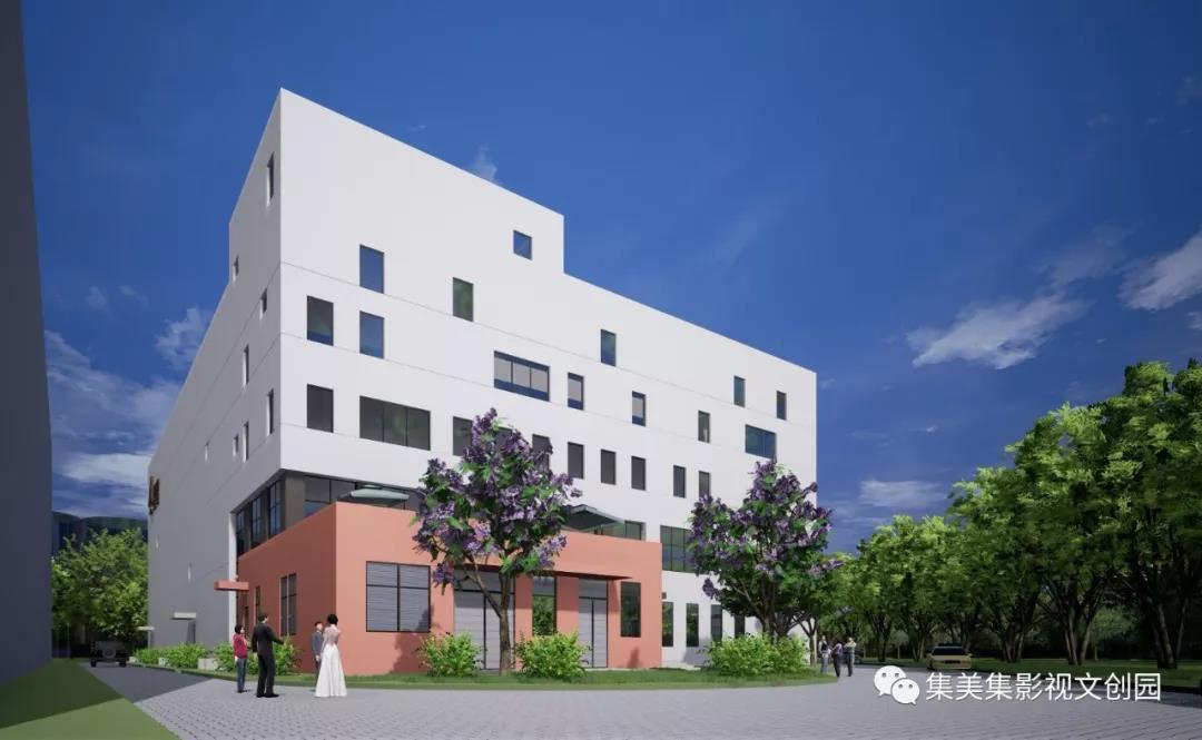 ▲高科技数字棚区概念图,高科技数字棚区建筑面积7200㎡,包含3000㎡摄影棚、附属楼和动力中心