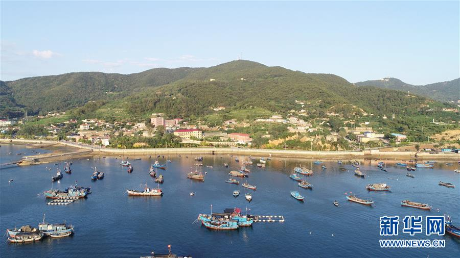 大连市长海县海洋岛镇一景(2019年8月31日无人机拍摄)。  新华社记者 龙雷 摄