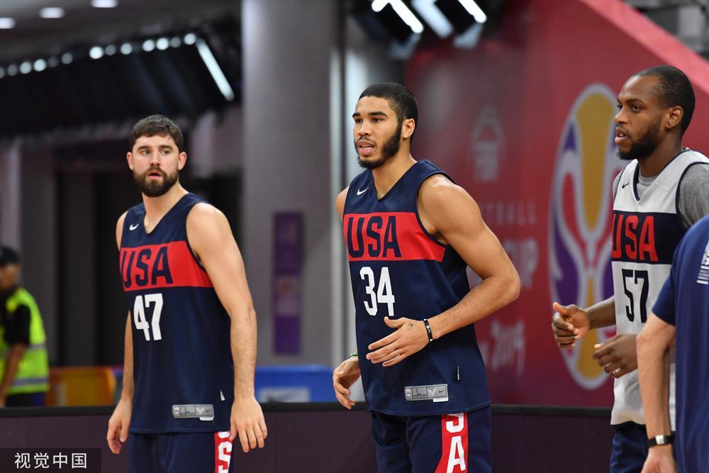 杰森-塔图姆参加美国男篮训练